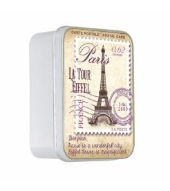 Мыло в жестяной коробочке Пион карта Парижа 100 г  Le Blanc