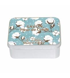 Мыло в жестяной коробочке Белый хлопок 100 г  Le Blanc