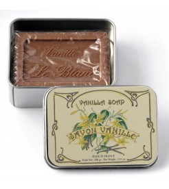 Мыло в жестяной коробочке Ваниль 100 г  Le Blanc