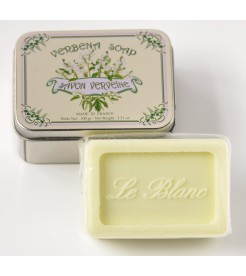 Мыло в жестяной коробочке Вербена 100 г  Le Blanc
