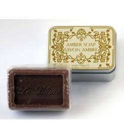 Мыло в жестяной коробочке Амбра 100 г  Le Blanc