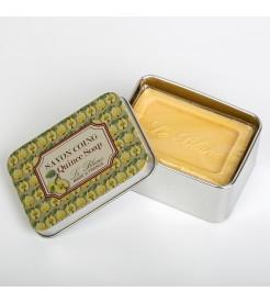 Мыло в жестяной коробочке Айва 100 г  Le Blanc