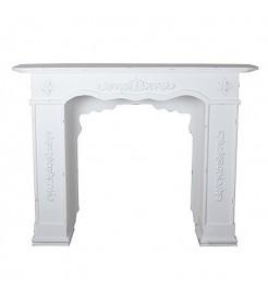 Портал для камина белый Колизей