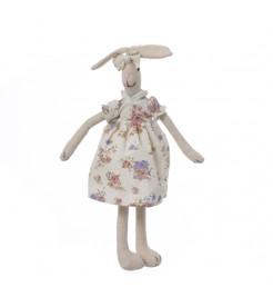Кролик девочка в цветном платье 35 см.