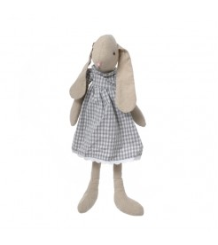 Кролик девочка в платье в клетку  60 см