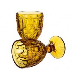 "Бокалы для вина ""Арабский желтый орнамент"" (4 штук)"
