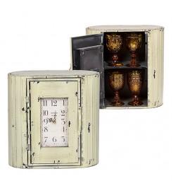 Часы - шкаф металлический  Белый