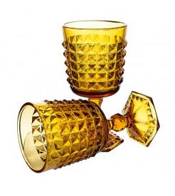 """Бокалы для вина """"Ампир"""" желтый (6 штук)"""