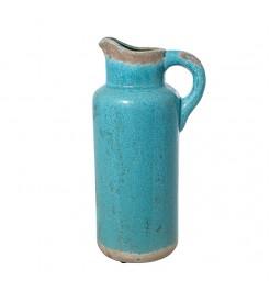 Кувшин декоративный керамический голубой