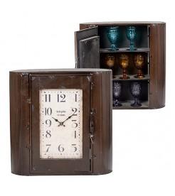 Часы - шкаф металлический Коричневый