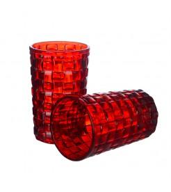 """Стаканы для воды """"Красный квадрат"""" большие (6 штук)"""