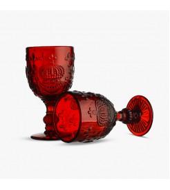 Бокалы для вина Королевские ярко красный  (6 штук)