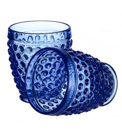 """Стаканы для воды """"Горошек"""" синий (6 штук)"""