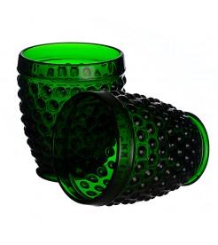 """Стаканы для воды """"Горошек"""" темно-зеленый (6 штук)"""