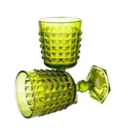 "Бокалы для вина ""Ампир"" светло-зеленый (6 штук)"
