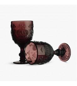 Бокалы для вина Королевские темный сливовый  (6 штук)