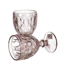 Бокалы для вина Арабский орнамент розовый (6 штук)