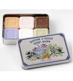 Гостевое мыло в жестяной коробочке Ассорти 6 шт  Le Blanc