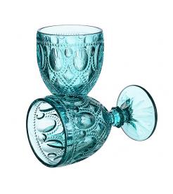 Бокалы для вина Арабский орнамент бирюзовый (6 штук)